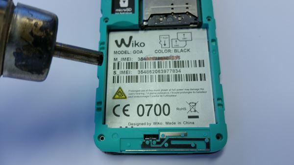 Guide de réparation du Wiko GOA étape 2