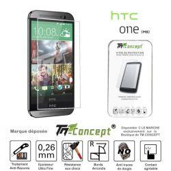 Vitre de protection en verre trempé de très haute qualité pour HTC One M8
