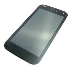 Touch screen and LCD screen assembled black for Wiko Barry