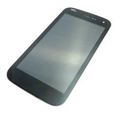 vidrio táctil y la pantalla LCD negro montado para Wiko Barry