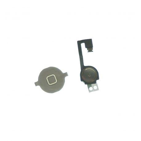 Bouton home avec nappe assemblée compatible Apple iPhone 4G blanc
