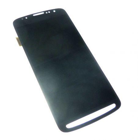 Ecran vitre tactile et LCD assemblés bleu sans châssis pour Samsung Galaxy S4 Active I9295