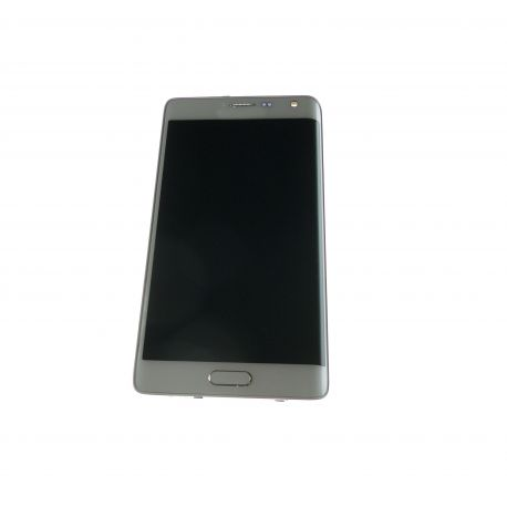 Ecran vitre tactile et LCD assemblés avec chassis blanc pour Samsung Galaxy note Edge N915FY