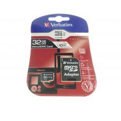 Carte MicroSD 32GB Classe 10 Verbatim pour Piece-mobile Accessoires certifiés