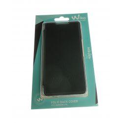 Folio black back cover for Wiko Rainbow Lite
