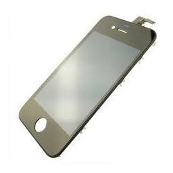 LCD screen with touch screen and contour chassis for Iphone 4S