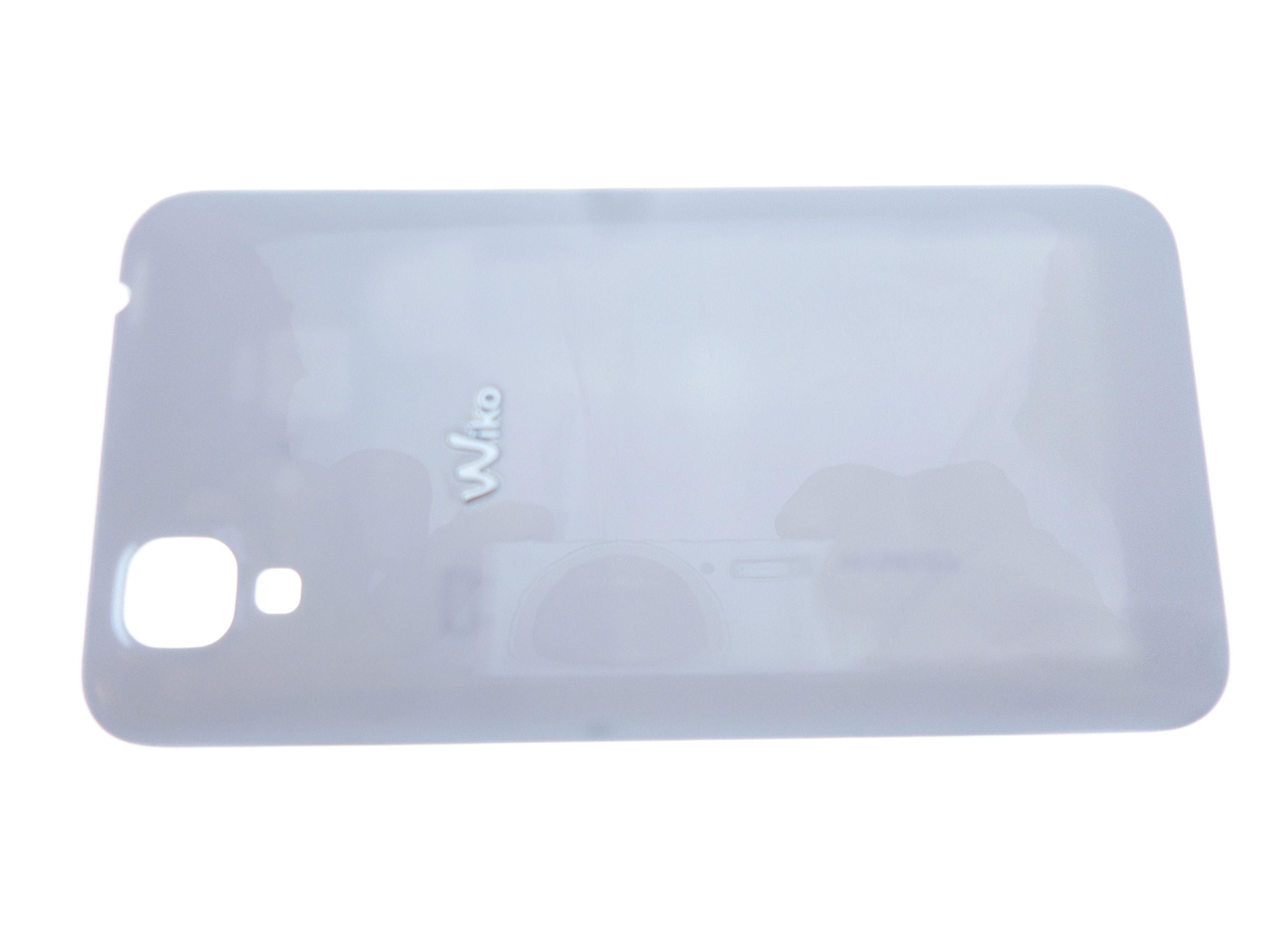 Cache arrière blanc cache batterie pour Wiko Sunset