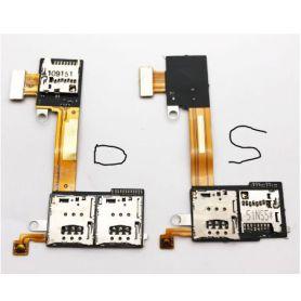 Lecteur SIM sur nappe Sony Xperia M2 S50h D2302-3-4-5