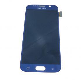 Vitre écran tactile et LCD assemblés bleu pour Samsung Galaxy S6 G920F