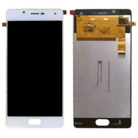 Ecran vitre tactile et LCD assemblés blanc et argent pour Wiko Ufeel