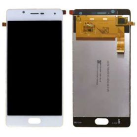Touch screen and LCD screen assembled white and silver for Wiko Ufeel