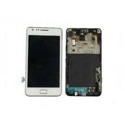 Ecran Lcd et tactile avec châssis Samsung Galaxy S2 I9100P Blanc