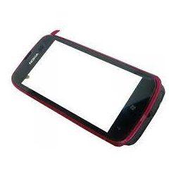 Vitre ecran tactile Nokia Lumia 610 rose + contour