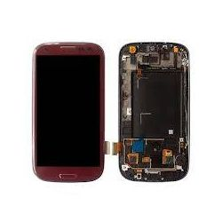 Ecran Lcd & tactile avec chassis Samsung Galaxy S3 GT-I9300 rouge