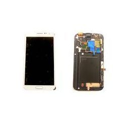 Ecran lcd tactile châssis Samsung galaxy note 2 4G N7105 Blanc