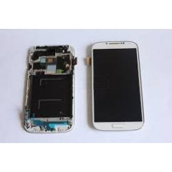 Lcd touch screen with chassis Samsung Galaxy S4 4G I9505 white