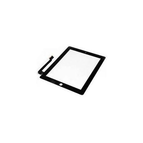 Ecran vitre tactile noir Apple Ipad 4