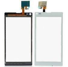Ecran vitre tactile compatible Sony Xperia L S36h C2105 blanc C2104