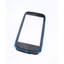 Vitre ecran tactile Nokia Lumia 610 bleu + contour