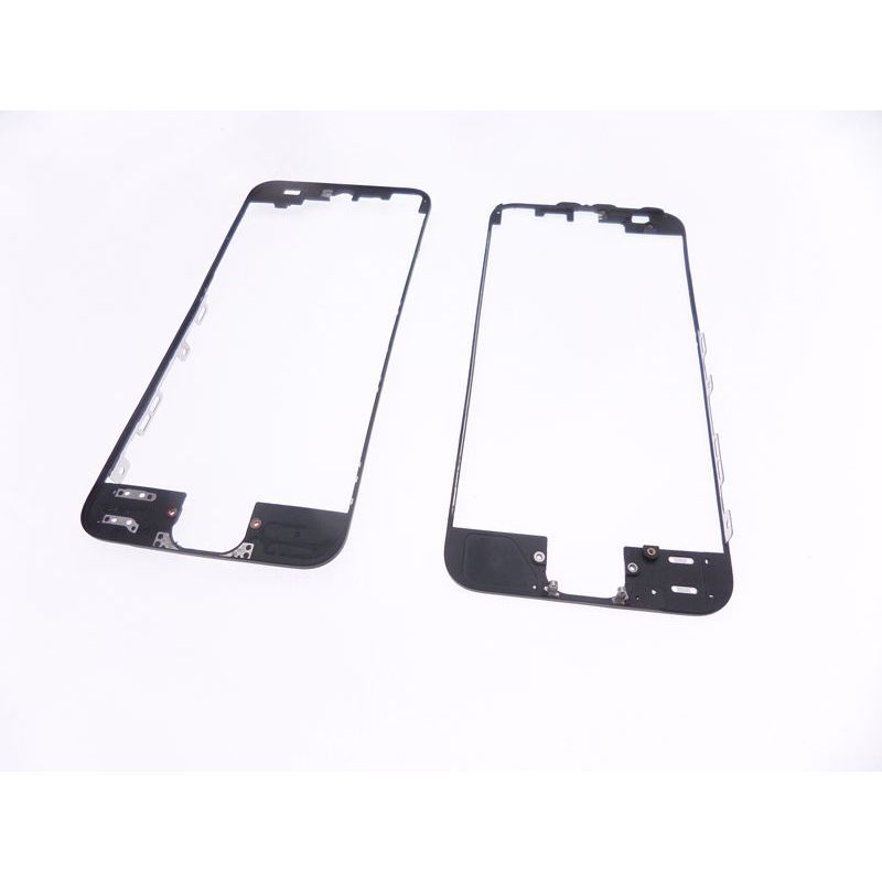 ch ssis de la vitre de protection frontale apple iphone 5 noir. Black Bedroom Furniture Sets. Home Design Ideas