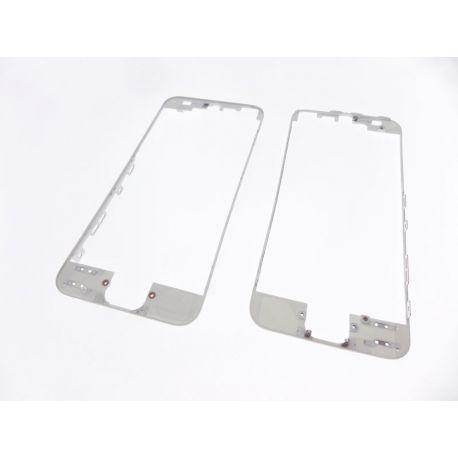 Chassis de la vitre de protection frontale Apple Iphone 5 blanc