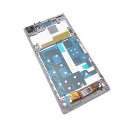 Lcd screen and touchscreen assemblies on white chassis Sony Xperia Z1 L39h C6903