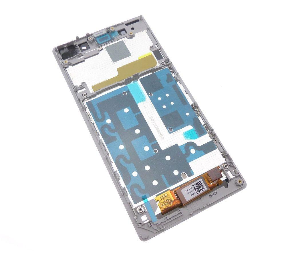 Ecran Lcd et vitre tactile assemblés sur châssis blanc Sony Xperia Z1 L39h C6903