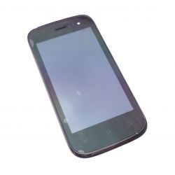 Lcd screen and touchscreen assemblies on black chassis Wiko Cink slim
