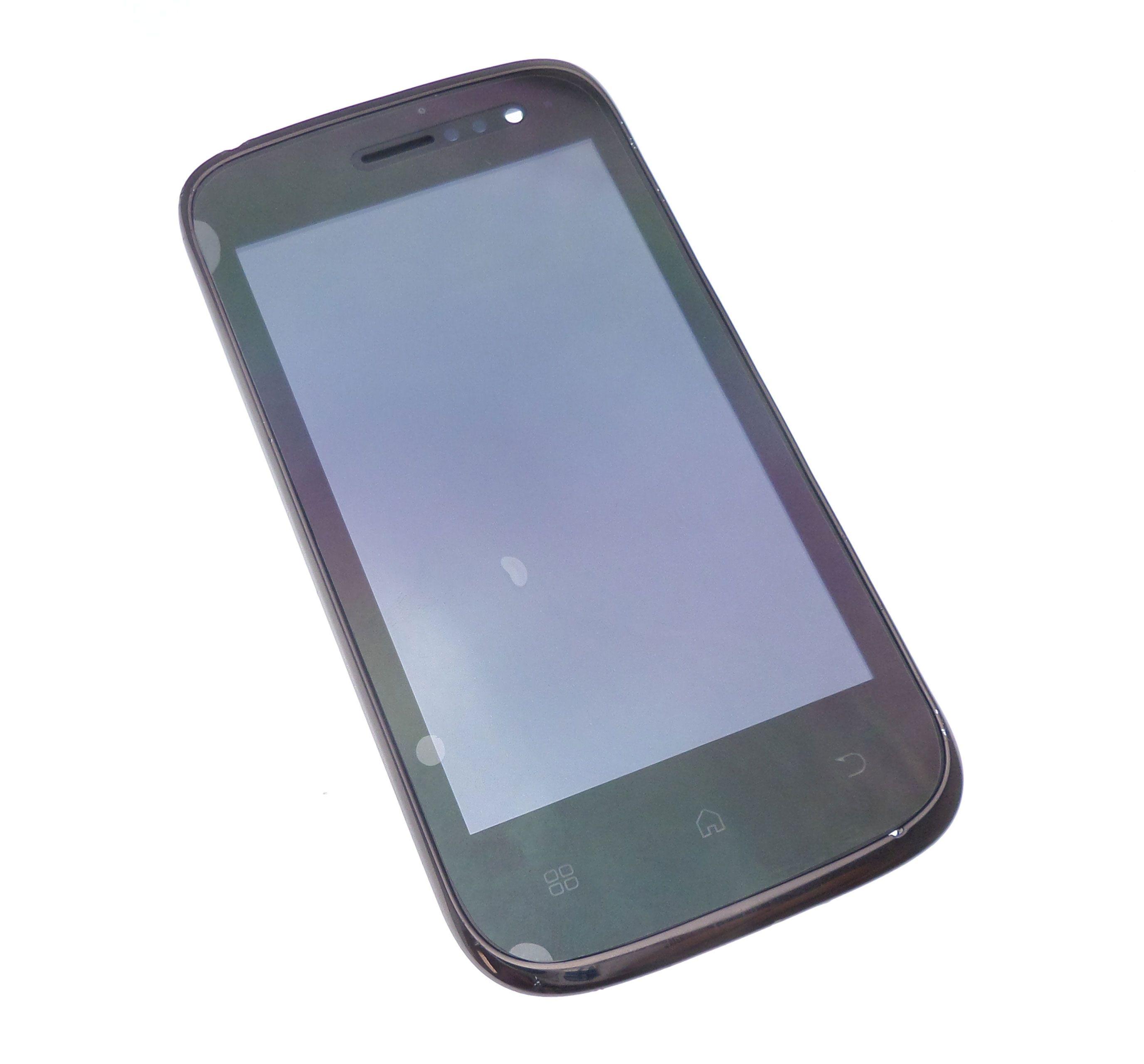Ecran Lcd et vitre tactile assemblés sur châssis noir Wiko Cink slim
