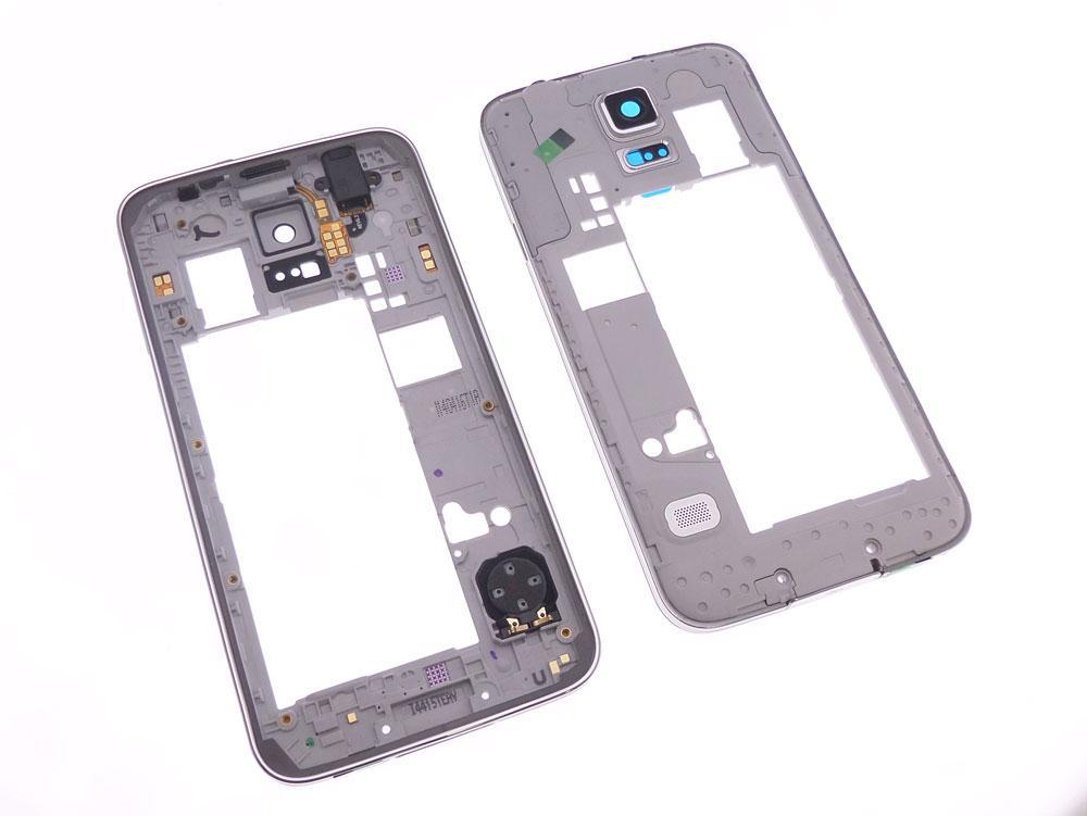 Chassis contour argenté et arrière Version A Samsung Galaxy S5 SM-G900F G900A