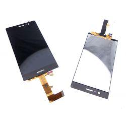 Ecran vitre tactile et LCD assemblés sur chassis Huawei Ascend P7