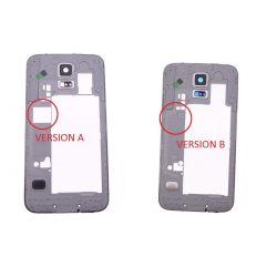 Chassis contour argenté et arrière Samsung Galaxy S5 SM-G900F G900A