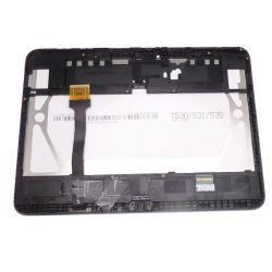 Ecran vitre tactile et LCD assemblés sur chassis noir Samsung Galaxy Tab 4 10.1 T530N