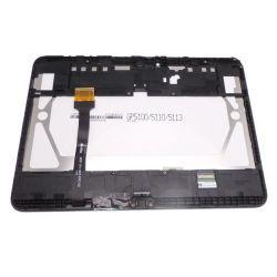 Ecran vitre tactile et LCD assemblés sur chassis blanc Samsung Galaxy Tab 4 10.1 T530N