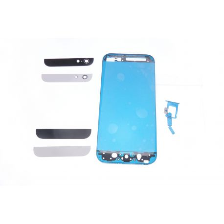 Kit couleur bicolore Turquoise compatible Apple Iphone 5