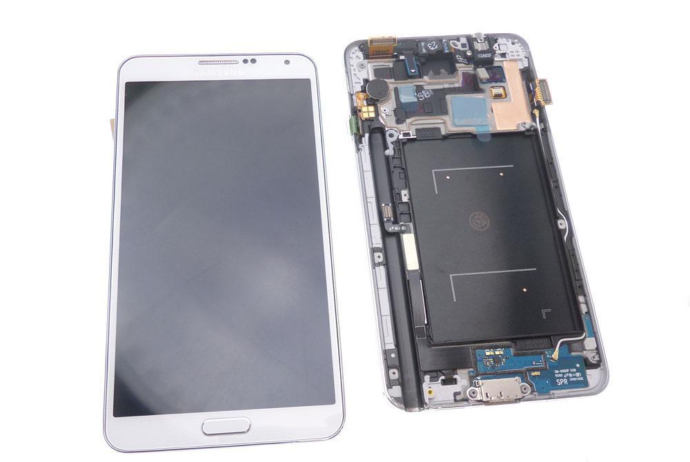 Ecran Lcd et vitre tactile + châssis compatible Samsung Galaxy Note 3 N9000 blanc