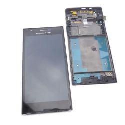 Ecran Lcd et vitre tactile + chassis Huawei Ascend P2