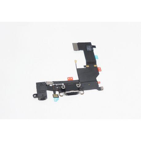 Dock chargement avec prise casque sur flexible noir compatible Apple Iphone 5S