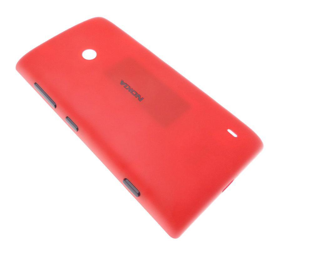 Coque arrière cache batterie pour Nokia Lumia 520 rouge