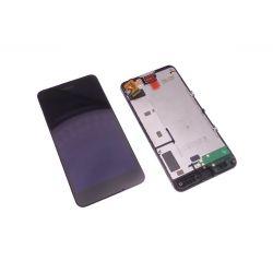 Ecran vitre tactile et LCD assemblés sur chassis noir Nokia Lumia N635