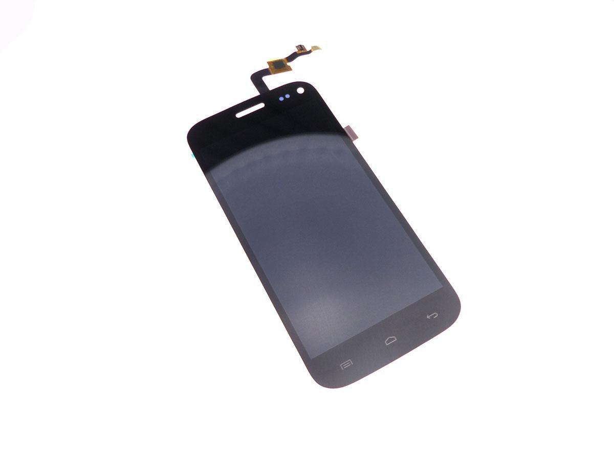 Ecran vitre tactile et LCD assemblés noir pour Wiko Darkmoon
