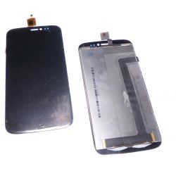 Glass touch screen and LCD assemblies black Wiko darkside