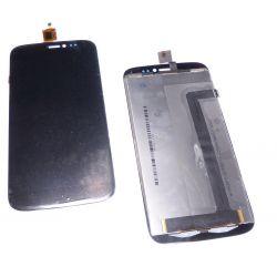 Ecran vitre tactile et LCD assembles noir Wiko darkside