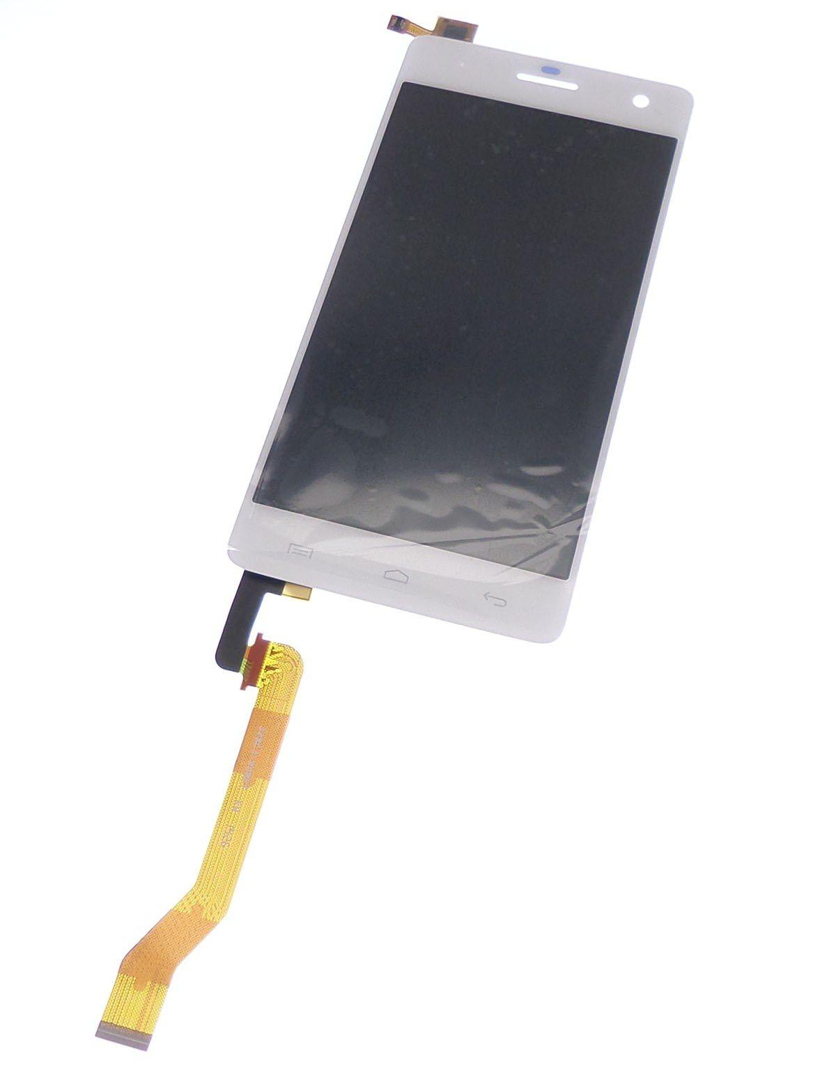 Ecran vitre tactile et LCD assemblés blanc pour Wiko Highway
