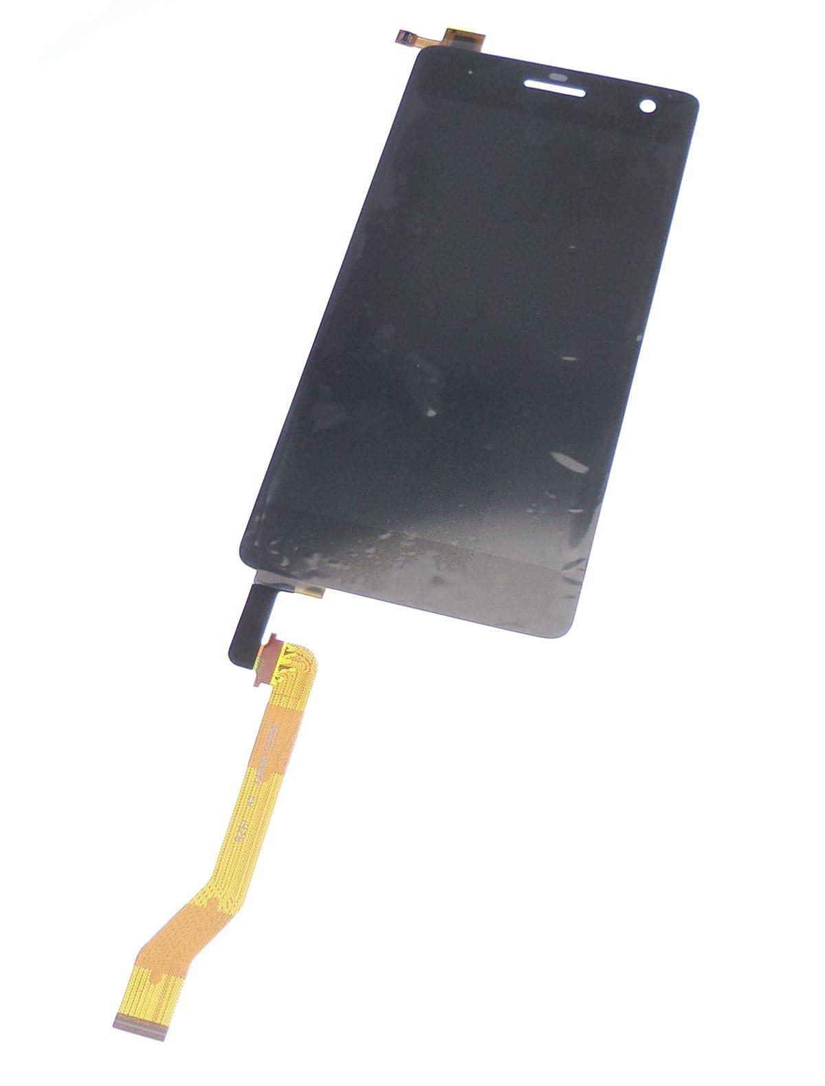Ecran vitre tactile et LCD assemblés noir pour Wiko Highway