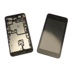 Touch screen and LCD screen assembled on Nokia Lumia 530 chassis