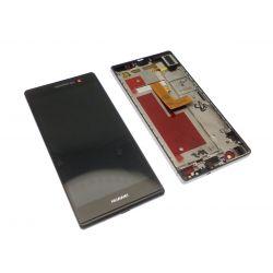 Ecran vitre tactile et LCD assemblés avec châssis Huawei Ascend P7