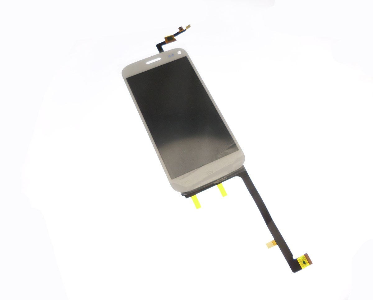 Ecran vitre tactile et LCD assemblés blanc pour Wiko Darkmoon
