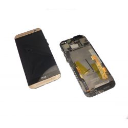 Lcd screen and touchscreen assemblies on gold frame Htc One M8