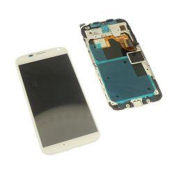 Ecran vitre tactile et LCD assemblés sur châssis blanc Motorola Moto X XT1060 XT1058